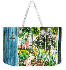 Spring Garden Weekender Tote Bag by Clara Sue Beym