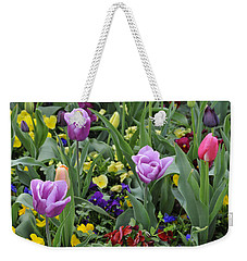 Weekender Tote Bag featuring the photograph Spring Garden by Kenny Francis