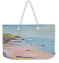 Spring Hills And Seashore At Bowling Ball Beach Weekender Tote Bag