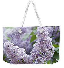 Spring Lilacs In Bloom Weekender Tote Bag by Juli Scalzi