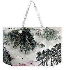 Spring Mountains And The Great Wall Weekender Tote Bag by Yufeng Wang