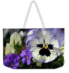 Spring Pansy Flower Weekender Tote Bag
