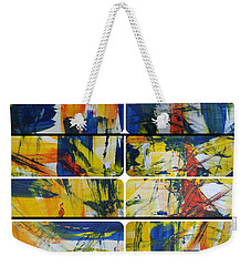 Weekender Tote Bag featuring the painting Spring Part One by Sir Josef - Social Critic - ART