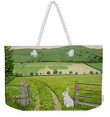 Spring Rabbit Weekender Tote Bag