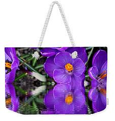 Weekender Tote Bag featuring the photograph Spring Reflection by Judy Palkimas