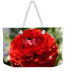 Spring Scarlet Double Begonia Weekender Tote Bag