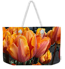 Weekender Tote Bag featuring the photograph Spring Shower by Cheryl Hoyle