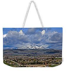 Spring Snow On Squaw Butte Weekender Tote Bag