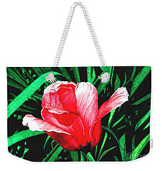 Weekender Tote Bag featuring the painting Spring Solo by Barbara Jewell