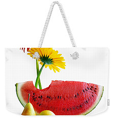 Spring Watermelon Weekender Tote Bag by Carlos Caetano