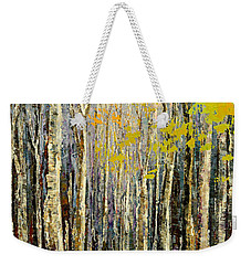 Weekender Tote Bag featuring the painting Spring Wind by Tatiana Iliina