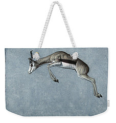 Weekender Tote Bag featuring the painting Springbok by James W Johnson