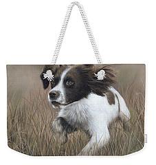 Springer Spaniel Painting Weekender Tote Bag by Rachel Stribbling