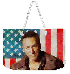 Springsteen American Icon Weekender Tote Bag by Dan Sproul