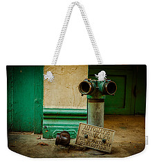 Sprinkler Green Weekender Tote Bag by Melinda Ledsome