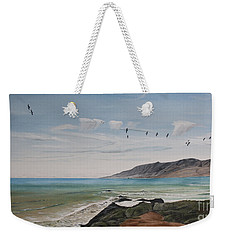 Squadron Of Pelicans Central Califonia Weekender Tote Bag