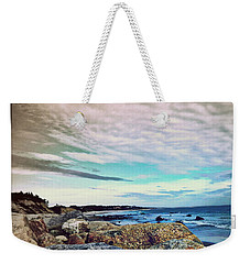 Squibby Cliffs And Mackerel Sky Weekender Tote Bag by Kathy Barney