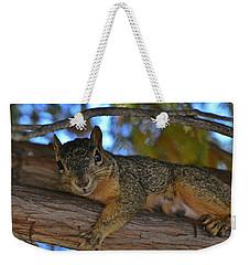 Squirrel On Watch Weekender Tote Bag