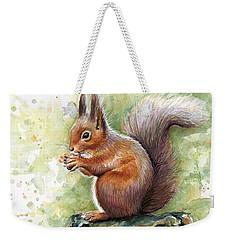 Squirrel Watercolor Art Weekender Tote Bag by Olga Shvartsur