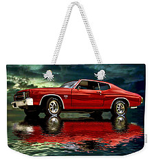 Weekender Tote Bag featuring the photograph Chevelle 454 by Steven Agius