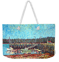 St Andrews Wharf Weekender Tote Bag