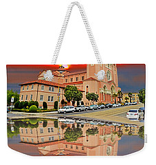 St Anne Church Of The Sunset In San Francisco With A Reflection  Weekender Tote Bag
