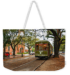 St. Charles Ave. Streetcar In New Orleans Weekender Tote Bag