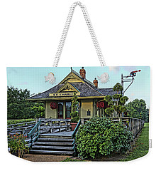 St Charles Station On The Katty Trail Look West Dsc00849 Weekender Tote Bag