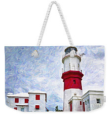 Weekender Tote Bag featuring the photograph St. David's Lighthouse by Verena Matthew