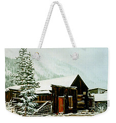 Weekender Tote Bag featuring the painting St Elmo Snow by Craig T Burgwardt