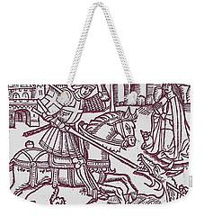St. George - Woodcut Weekender Tote Bag