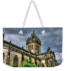 St Giles And Tree Weekender Tote Bag