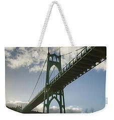 St Johns Bridge Weekender Tote Bag