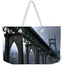 St Johns Bridge Oregon Weekender Tote Bag