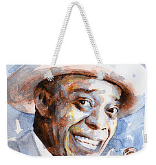 Weekender Tote Bag featuring the painting St. Louis Blues 2 by Laur Iduc