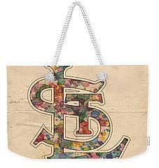 St Louis Cardinals Logo Vintage Weekender Tote Bag by Florian Rodarte