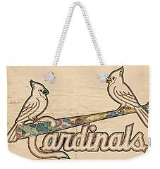 St Louis Cardinals Poster Art Weekender Tote Bag