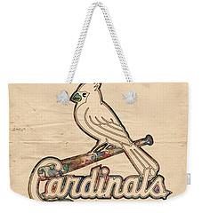 St Louis Cardinals Poster Vintage Weekender Tote Bag by Florian Rodarte