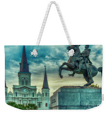St. Louis Cathedral And Andrew Jackson- Artistic Weekender Tote Bag