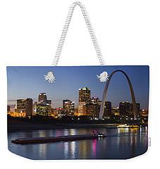 St Louis Skyline With Barges Weekender Tote Bag