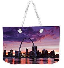 St Louis Sunset Weekender Tote Bag