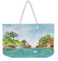 St Lucia From The Harbour Weekender Tote Bag by Pat Katz