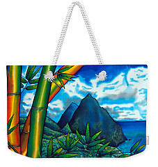 St. Lucia Pitons Weekender Tote Bag