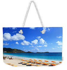 St. Maarten Calm Sea Weekender Tote Bag by Catie Canetti
