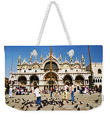 Weekender Tote Bag featuring the photograph St. Mark's Basilica  by Allen Beatty