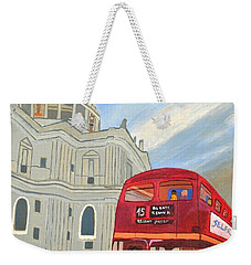 St. Paul Cathedral And London Bus Weekender Tote Bag