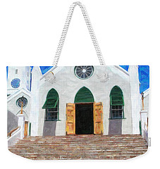 Weekender Tote Bag featuring the photograph St. Peter's Church  by Verena Matthew