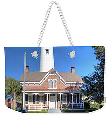 Weekender Tote Bag featuring the photograph St. Simons Island Light Station by Gordon Elwell
