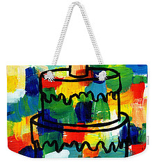 Stl250 Birthday Cake Abstract Weekender Tote Bag by Genevieve Esson