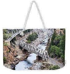 Stacked Bridges Weekender Tote Bag